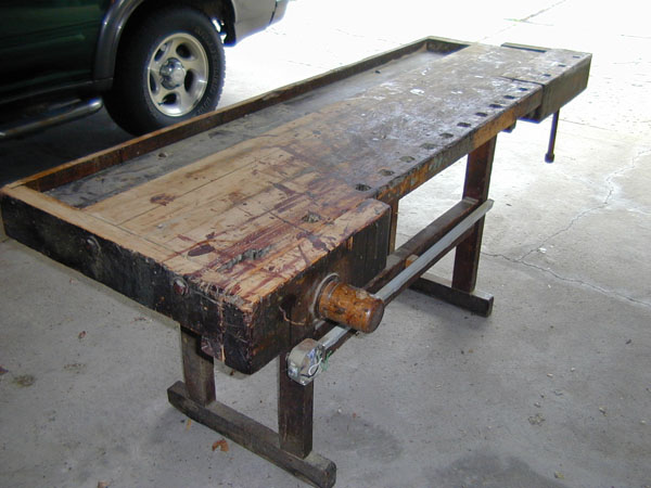 The front vise. I will have to make a handle since the original one is ...